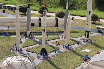 NASA rockets at LEGOLAND Florida