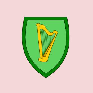Harp on shield